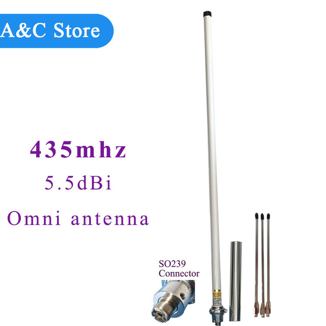 US $62 97 6% OFF|435mhz vhf omni fiberglass base antenna 400 470mhz SO239  SL16 K outdoor repeater walkie talkie omni antenna high quality outlet-in