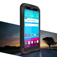עבור LG מקרה אהבת מיי מתכת + סיליקון + משוריין G4 מזג מקרה היברידי עבור LG G4 זכוכית Case מים/הוכחת עפר/הלם Case-5.5inch