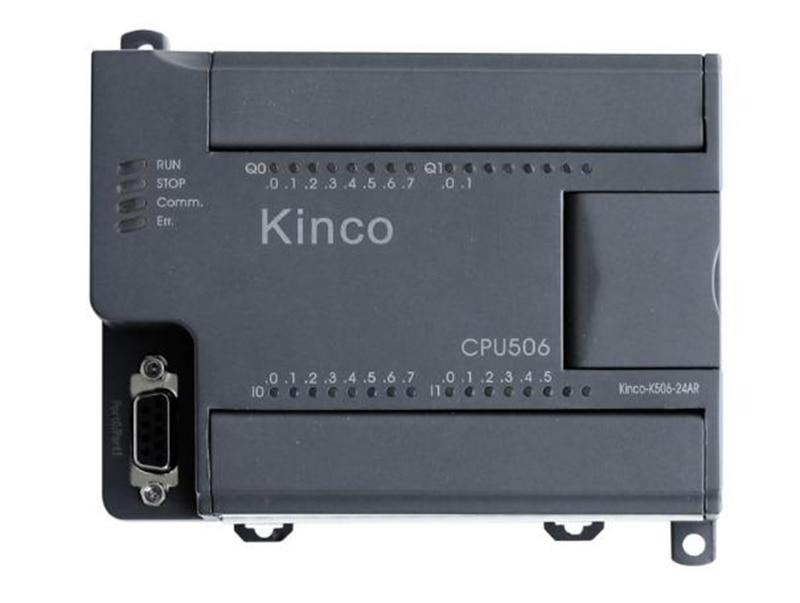 New K506-24DR PLC CPU DC21.6-28.8V power supply 14DI 10DO relay k506ea 30at kinco plc cpu ac85 265v power supply 14di 4ai 10do 2ao transistor new original