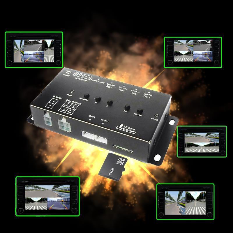 SD Card Intelligent Mini car Recorder DVR Panoramic driving Monitoring Traffic Recorder four views video 4