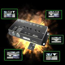 SD Card Intelligente Mini Registratore dell'automobile DVR Panoramica di guida di Monitoraggio Registratore di Traffico quattro punti di vista video 4 canali CCd della macchina fotografica