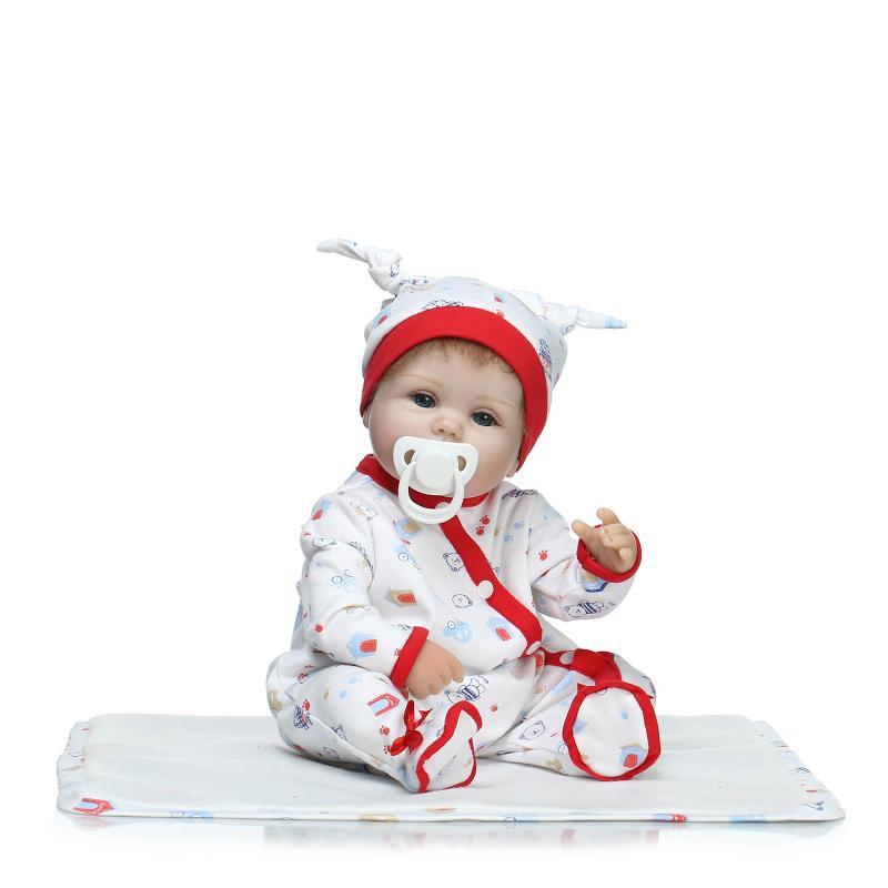 NPK 17in42cm star product lifelike newborn babyboy with newborn babys clothes child best playmate silicone reborn baby dolls