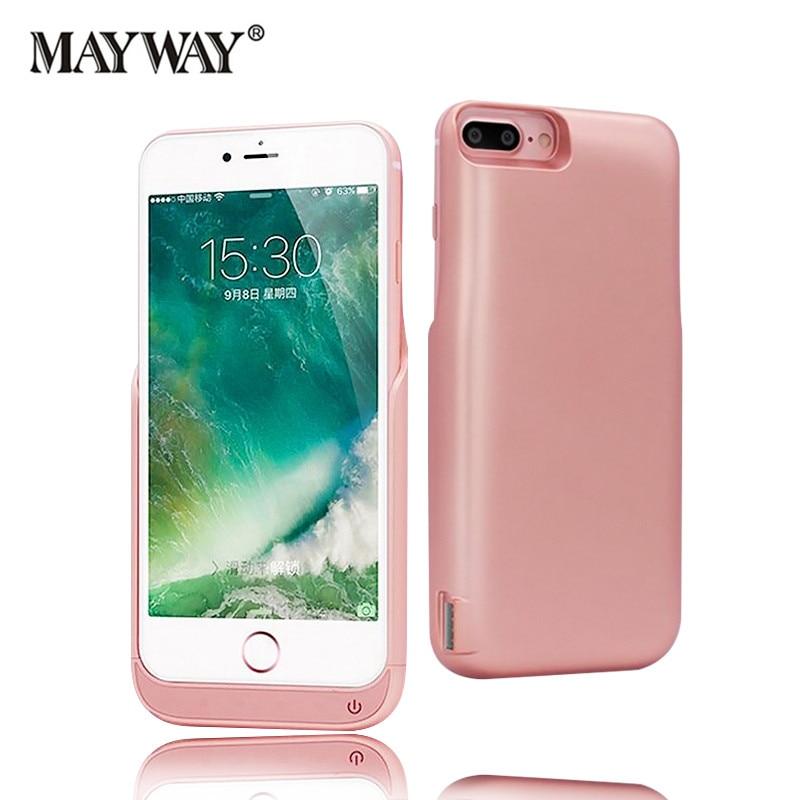 Цена за 8000 мАч Аккумуляторная Резервного Питания Чехол для iPhone 6 6 s 7 плюс 5.5 дюймов Внешнее Зарядное Устройство Дело Power Bank случае