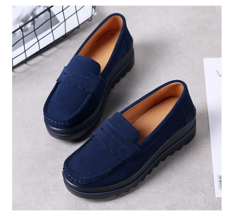 HX 8775-Spring Autumn Genuine Leather Women Shoes-4