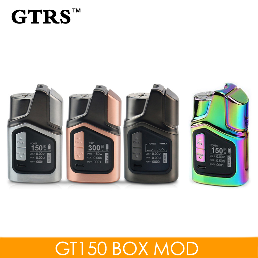 Original GTRS GT150 Electronic Cigarette Vaporizer TC VW Curve Mod Built-in  4000mAh Battery Vape 150W Vape Mod fit RDA RTA RDTA