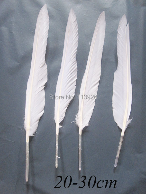 "400Pcs white goose Feathers 8-12""(20-30cm)  goose feather plume for wedding party decoration DIY clothing accessories"