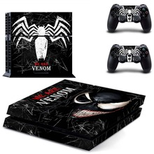 Vinyl Sticker PS4 Skin Decal Sticker For PlayStation4 Console and 2 controller skins – VENOM