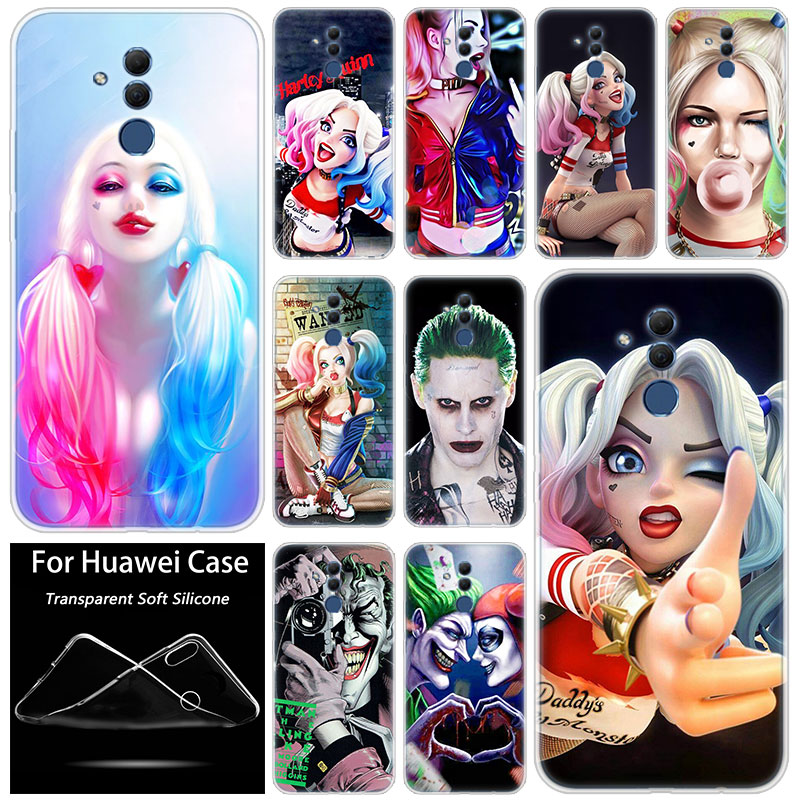 Hot Joker and Harley Quinn Silicone <font><b>Case</b></font> for <font><b>Huawei</b></font> Mate 10 20 Lite Pro <font><b>Y7</b></font> Y9 Prime <font><b>2019</b></font> Y5 <font><b>2019</b></font> Y6 Prime 2018 Y5 2017 TPU <font><b>Cover</b></font> image