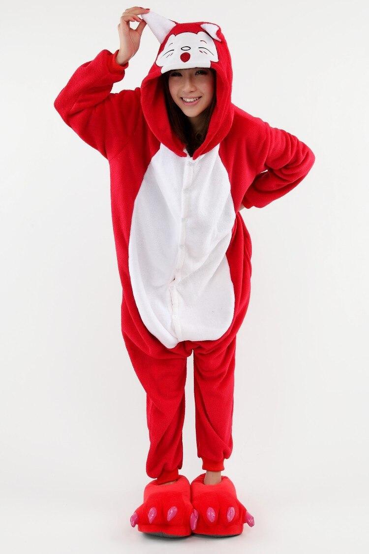 Aliexpress.com : Buy Adult animal pajamas one piece cartoon red ...
