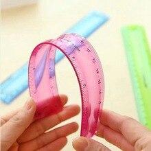 Flexible Ruler 30cm-Tape Office-Stationery Multicolor 20cm Students Not Easy-To-Break