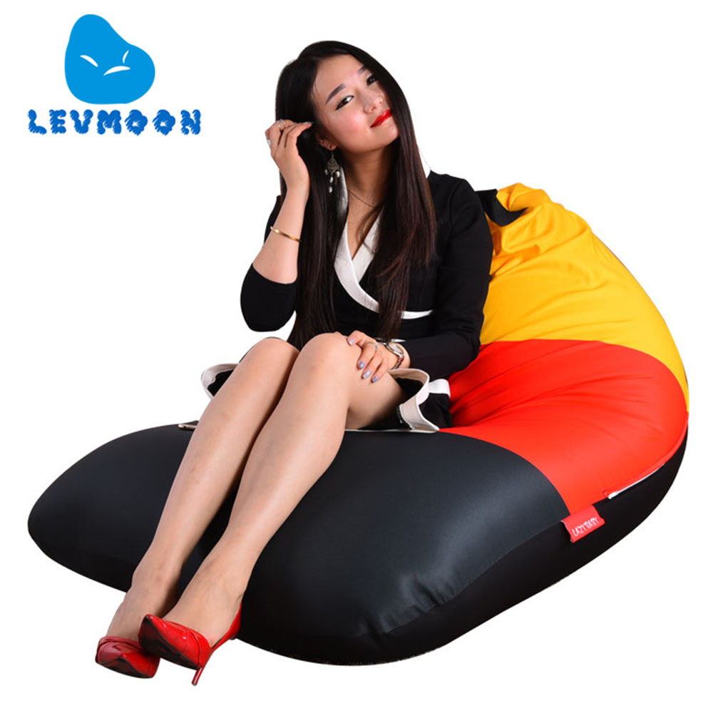 LEVMOON Beanbag Sofa Chair Germany Flag Seat Zac Bean Bag Bed Cover Without Filling Indoor Beanbags germany flag new 100