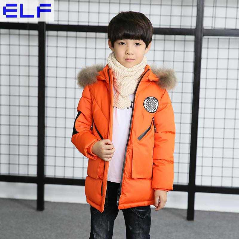 цена на Children'S Clothing Boy Winter Coat Long Section Thicken 2018 New Children'S Cotton Jacket High-Quality Hand-Padded Cotton