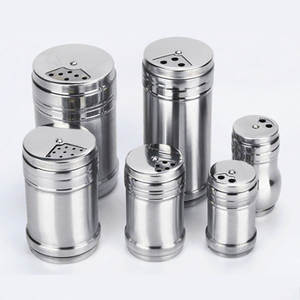 Gadgets Salt Rotating-Cover Spice-Jar Sugar-Bottle Pepper Shaker Seasoning Kitchen Stainless-Steel
