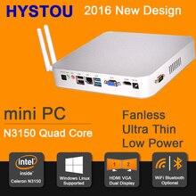 Gen 5 Braswell 14NM CPU N3150 Quad Core 6W Low Power Fanless Mini PC Windows 8 HTPC Mini Desktop Computer Linux 8GB RAM 256G SSD(China (Mainland))