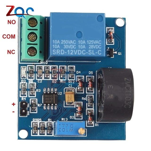 Module de capteur de détection de courant alternatif 5V 12V 24V Module de Protection de relais 5A sortie de commutateur de Protection contre les surintensités