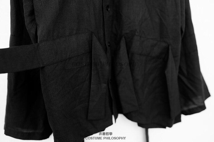 S 6XL!! été nouveau style hommes original T shirt à manches longues personnalisé décontracté ruban conception cool vent noir haut - 4