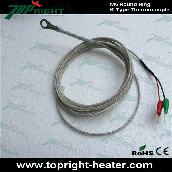 M6 Round Ring Thermocouple K Type, lead wire length 3meter-in ...
