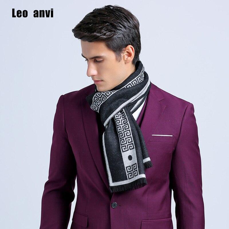 New Letter Luxury Brand Men Business Scarf Silk Cashmere Warm Scarf Shawl Good Quality 180*30 Cm Winter Warm Scarves Men
