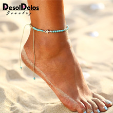 Bohemian Beads Star Rope Anklets For Women Handmade Charm Anklet Bracelets 2019 Beach Jewelry Adjustable Gift Drop Shipping
