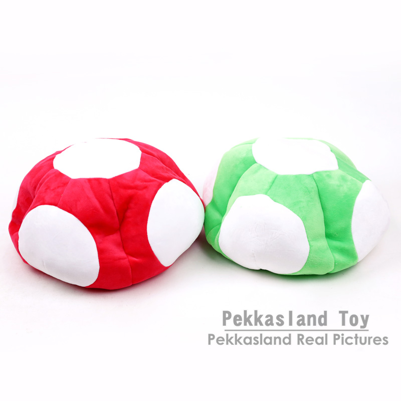 Super Mario Bros Toad Mushroom Cosplay Warm Winter Hat Cap Toy Dolls Christmas Gifts Red / Green