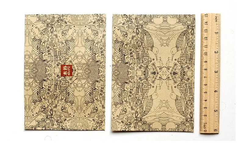 50PCS Retro Ideal World Cards Envelope Kraft Paper Envelope 6x4.2 ...