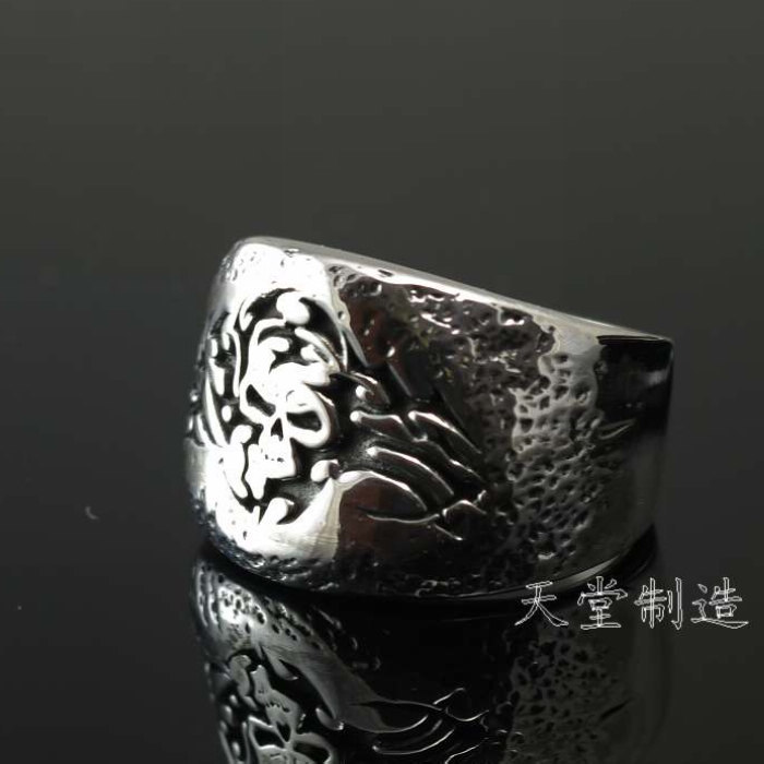 925 sterling silver silver ring skeleton imports chic pattern thailand imports skull blood new skeleton silver ring