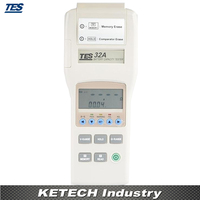 TES 32A Battery Capacity Impedance Tester Resistance Voltage Meter Memory Read