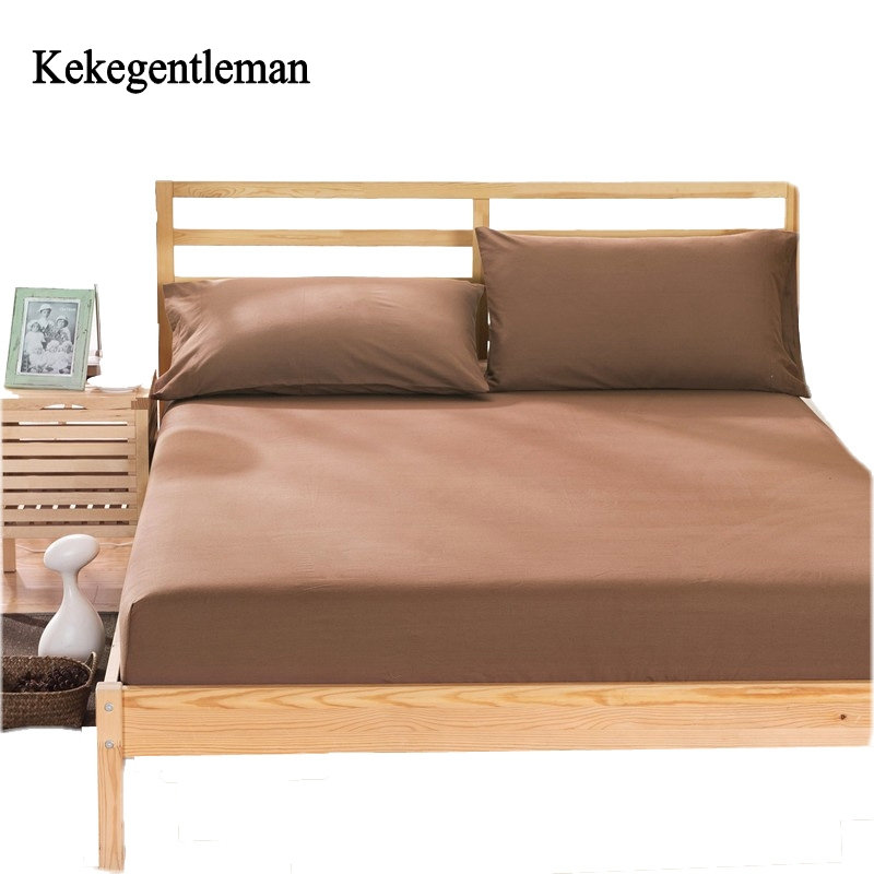 kekegentleman home textile 100 cotton sheets mattress cover bed sheet solid color fitted sheet. Black Bedroom Furniture Sets. Home Design Ideas