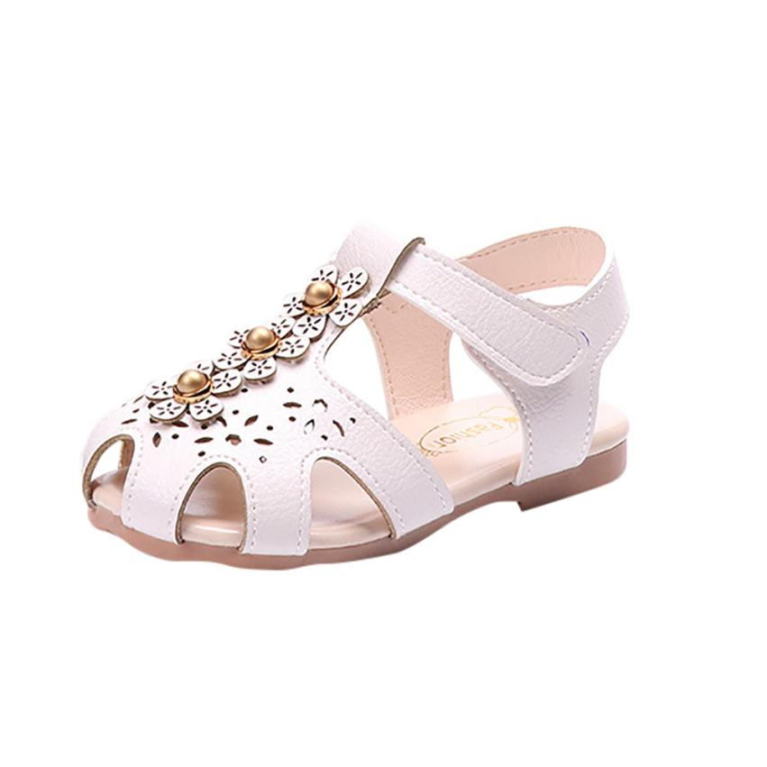 ARLONEET Baby Roman Sandals Girl Floral Pearls Non-Slip Princess Sandals Casual Shoes Girls 0 to 6 Years Drop Shipping 30S517