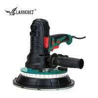 LANNERET 850W/1240W 180mm/225mm Dry Wall Sander Handheld Variable Speed Vacuum Drywall Disc Sander LED Strip Light Dust Free