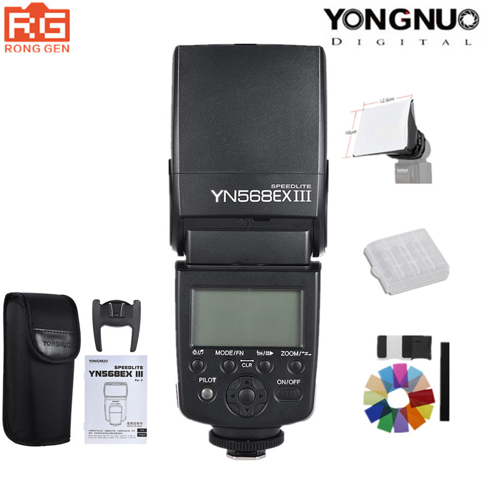YONGNUO YN568EX III YN 568EX III TTL Wireless HSS Flash Speedlite for Canon Nikon DSLR Camera