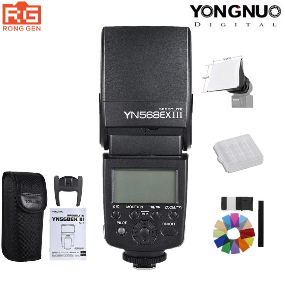 YONGNUO YN568EX III YN-568EX III TTL Drahtloser HSS Blitz Speedlite für Canon Nikon DSLR Kamera Kompatibel YN600EX-RT II YN568EXII