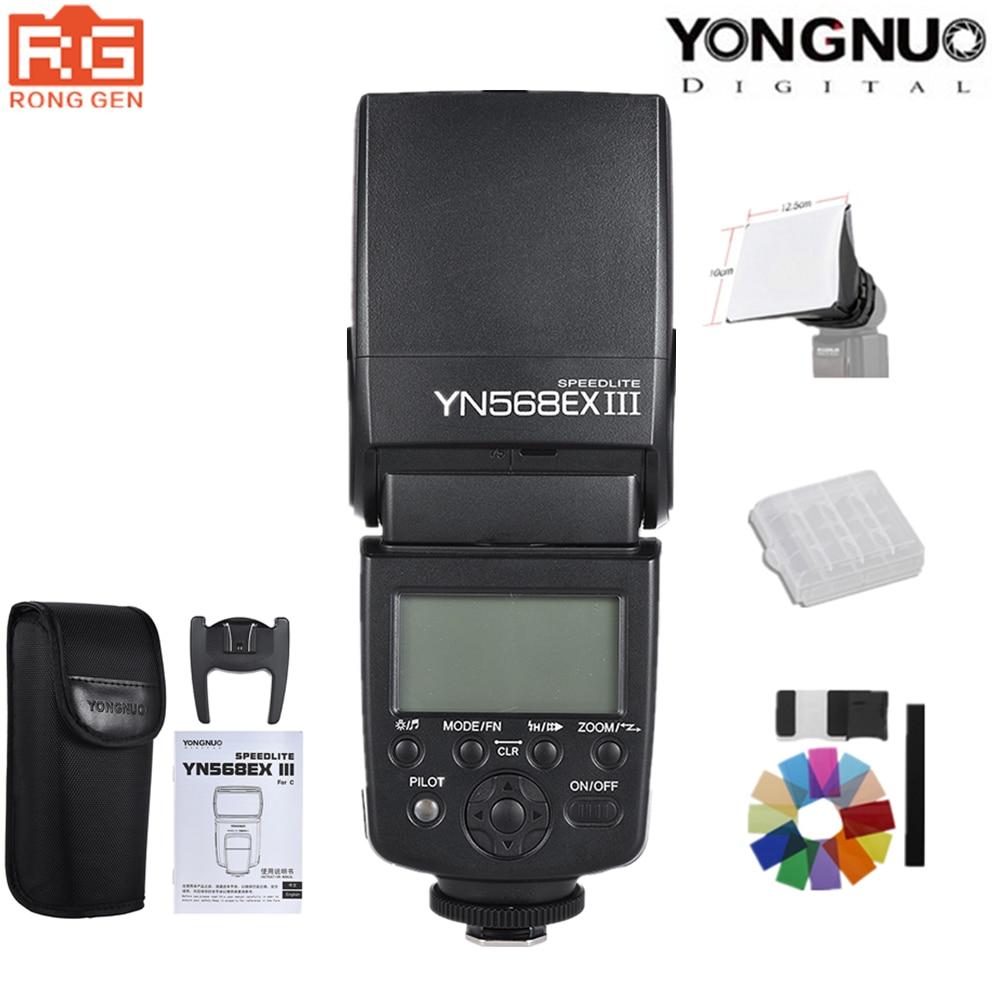 YONGNUO YN568EX III YN 568EX III TTL inalámbrico HSS de Flash para Canon Nikon DSLR Cámara Compatible YN600EX RT II YN568EXII-in Flashes from Productos electrónicos    1