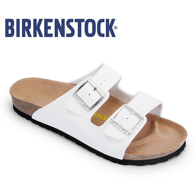 a33ce2bcc Birkenstock Summer Arizona Soft Footbed Leather Sandal Women shoes Unisex  Shoes Modis 802 Slippers Women Slippers