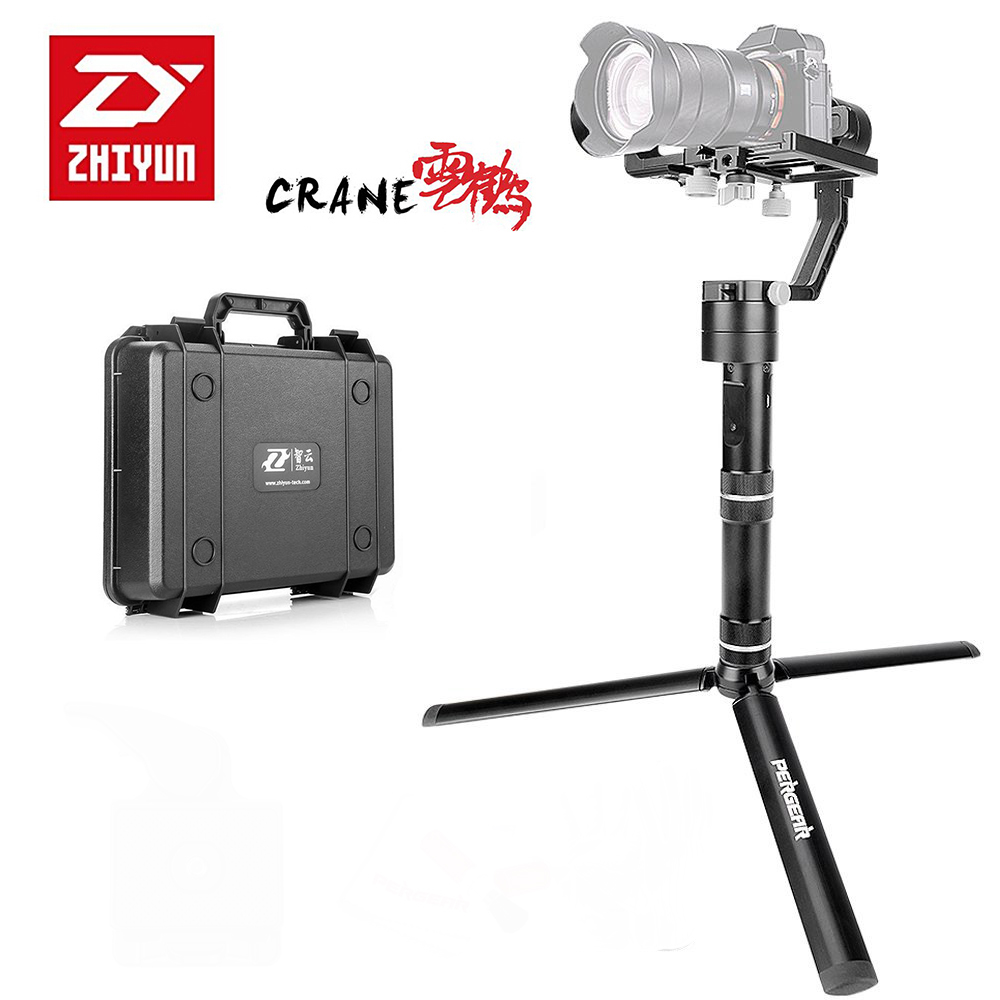 Zhiyun Crane V2 3 Axis Handheld Gimbal Stabilizer 3 32bit MCUs Brushless Motors with Encoders for Mirrorless Camera for Sony A7 professional dv camera crane jib 3m 6m 19 ft square for video camera filming with 2 axis motorized head