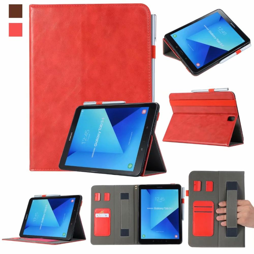 separation shoes 24722 f0e18 Handheld Pencil Holder Smart Cover Case For Samsung Galaxy Tab S4 10.5 T830  T835 T837 10.5