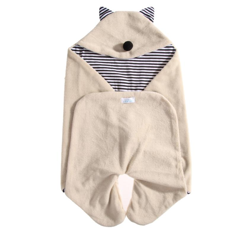 Baby Swaddle 78*35cm Baby Blanket Thick Warm Berber Fleece Envelopes For Newborns Infant Wrap Baby Bedding Sleeping