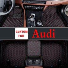 Car Interior Decoration Styling Pu Leather Auto Floor Foot Mats Pads Carpet For Audi A8l A3 A6 A4 Q7 R8 Tt S8 A5 A7 Q3 Q5 S5