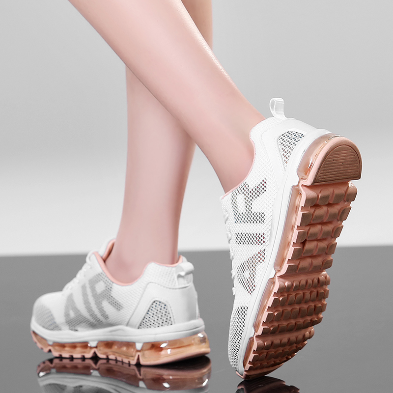 FEOZYZ Full Air Cushion Running Shoes Women Sneakers Summer Woman Shoes Runner Sport Shoes Breathable Reflective Jogging Shoes
