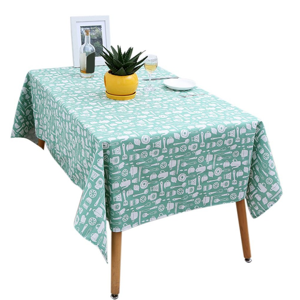 Tablecloth Table Cover Cotton Linen Fabric Rectangle Tablecloth Kitchenware Pattern Home Dining Room Table Cloth Cover <font><b>140*180</b></font> image