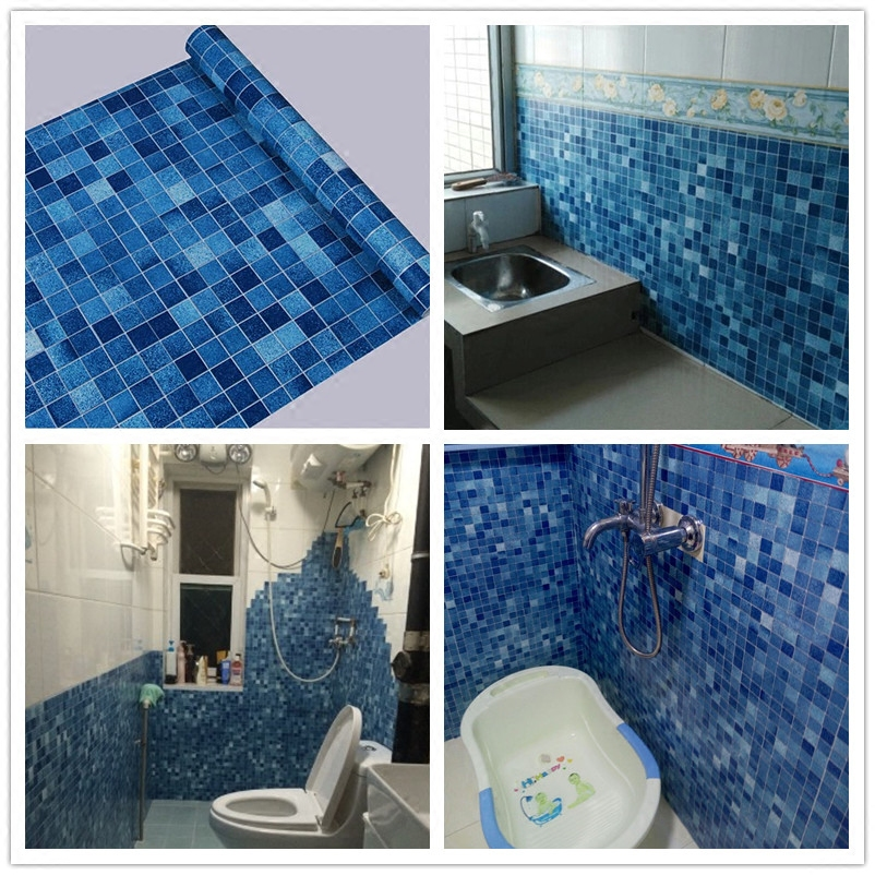 45 см x 10 м Кухня ванная комната, Туалет самоклеющаяся мозаика обои водонепроницаемый доказательство масла наклейки плитки обои
