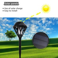 Solar Flame Flickering Lawn Lamp Led Solar Light Torch USB Charging Flame Light Waterproof Outdoor Garden Landscape Decor Lamp