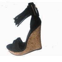 PADEGAO + kadın sandalet 2017 takozlar yüksek topuklar düğün elbise ayakkabı gri zip yaz kadın sandalet 1 sandalet yüksek topuk takozlar