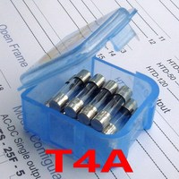 (10 pcs/lot) T4A 250V 5 x 20mm Slow Blow Glass Tube Fuse, UL VDE RoHS Approved, 4A, 4 Amp.