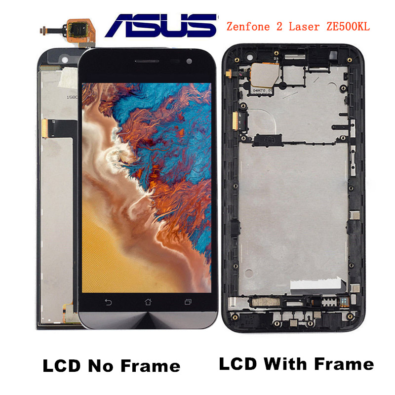 Sinbeda D'origine 5.0 LCD Écran D'affichage Pour ASUS Zenfone 2 Laser ZE500KL Tactile Écran avec Cadre Digitizer Assemblée Pour ZE500KL
