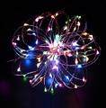 2 шт./лот 10 М Медный свет шнура 100led DC12V безопасные гибкие праздник светодиодное освещение в помещении украшения на рождество