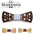Dot Mahoosive Marca Gravata Corbatas pajaritas Pajarita de Mariposa de Madera Hechos A Mano para Los Hombres Mens pajarita corbata arco De Madera para Niñas