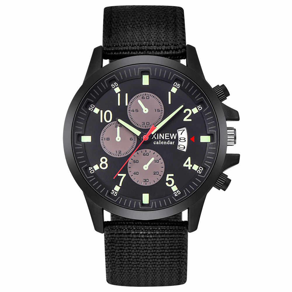 Hommes militaire en acier Date Quartz analogique armée tenue décontractée montres en acier analogique quartz montre pour hommes offre spéciale #5/22