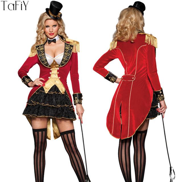 Costumi Halloween Adulti.Us 60 0 40 Di Sconto Tafiy 2017 Halloween Costume Cosplay Vestiti Delle Donne Femminile Cosplay Adulti Circo Clown Costume Halloween Party Girl