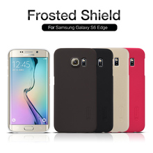 for samsung galaxy s6 edge case NILLKIN Super Frosted Shield PC Hard Case Galaxy S6 Edge Phone Back Cover + Screen Protector